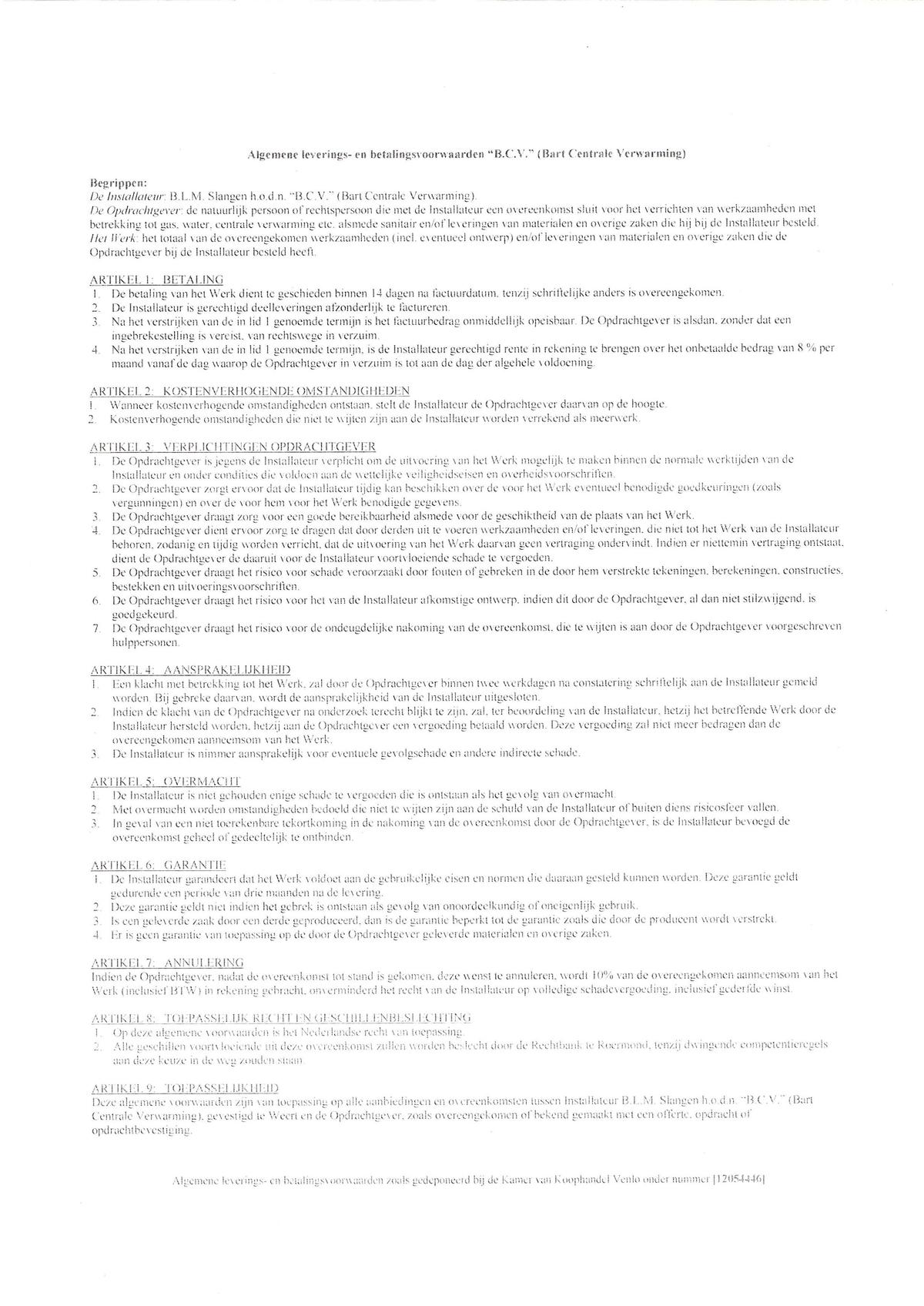 bcv  u2013 installatietechniek